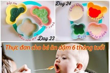 Thực đơn cho bé ăn dặm 6 tháng cung cấp dinh dưỡng giúp bé hay ăn chóng lớn mỗi ngày